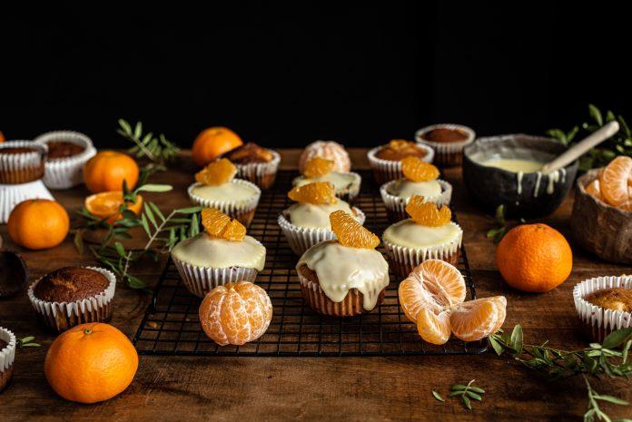 Cupcakes veganas de mandarina